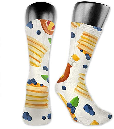 FUGVO Pancakes Breakfast Unisex 3D Print Athletic Casual Crew Tube Socken
