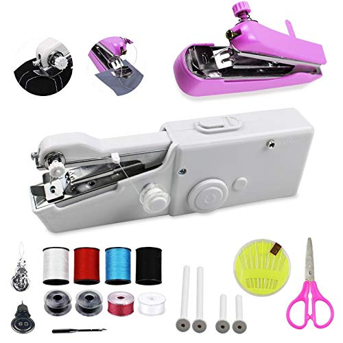 Portable Handheld Sewing Machine, Cordless Hand Held Electric Sewing Machine for...