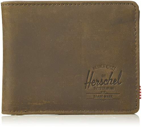 Herschel Hank + Coin Leather RFID Wallet Billetera con Dos Pliegues, Piel de Nobuk, Talla única Unisex Adulto