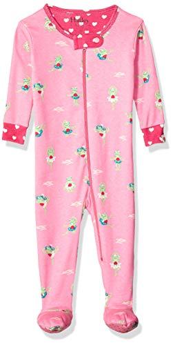 Hatley Baby-Mädchen Organic Cotton Footed Sleepers Schlafanzug, Prinzessin Frosch, 6-9 Monate