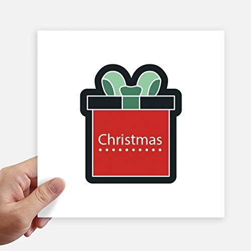 DIYthinker Weihnachten Cartoon Icon Quadrat-Aufkleber 20Cm Wand Koffer Laptop Motobike Aufkleber 4Pcs 20cm x 20cm Mehrfarbig