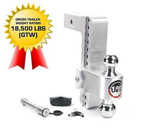 Buy Weigh Safe 180 HITCH CTB10-2.5-KA 10 Drop Hitch, 2.5 Receiver 18,500 LBS GTW - Adjustable Alum...
