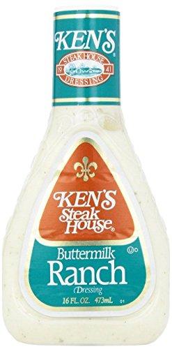 Ken's Buttermilk Ranch Dressing 16 oz, Gluten Free (Pack of 2)