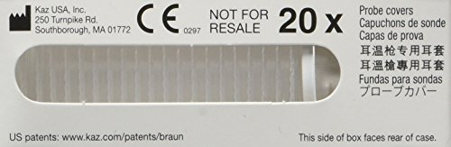 Braun Thermoscan Ear Thermometer Lens Filters (20 Pack)