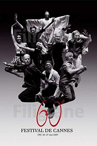 Générique Cannes 2007 Bruce Willis, Juliette Binoche, DepardiEU, Almodovar. Offizielles Poster Original, 60 x 80 cm