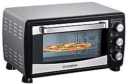 Mini Backofen 20 Liter   Pizza-Ofen   Minibackofen   3in1 Backofen mit Umluft   herausnehmbares Krümelblech   100°C - 250°C   Innenbeleuchtung   1380W   Ober-/Unterhitze   Edelstahl   60 Min. Timer