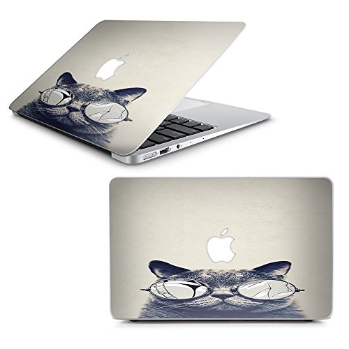 Skin Decal for MacBook Air 11' A1370 A1465 Laptop Vinyl Wrap/Cool Cat Kat Shades Glasses Tumblr