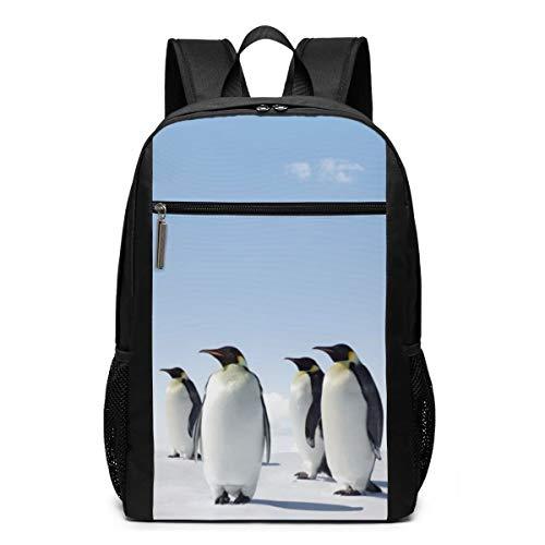 Emperor Penguins Backpacks 17'' Laptop Daypack Travel School Bags for Teens Men Women