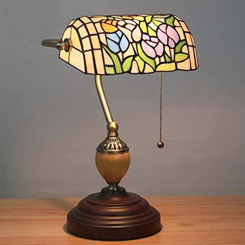 Lage prijs bedlampje kristallen kroonluchter hanglamp plafondlamp wandlamp tafellamp vintage pastorale kleur glas bank licht slaapkamer bedlampje barok kunst schrijf tulp.