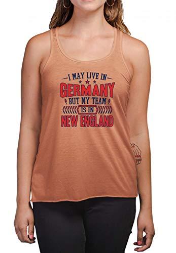 Patriots New England Pats Football Super Bowl Tanktop T-Back Frauen Shirt T-Shirt Damenshirt, Größe:XL, Farbe:Orange (Burnt Orange L223)