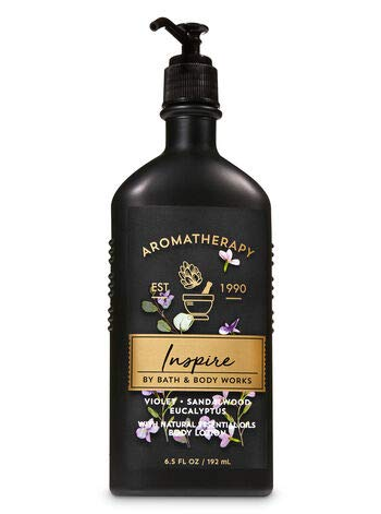 Bath and Body Works Aromatherapy Inspire Lotion 6.5 Ounce Black Bottle