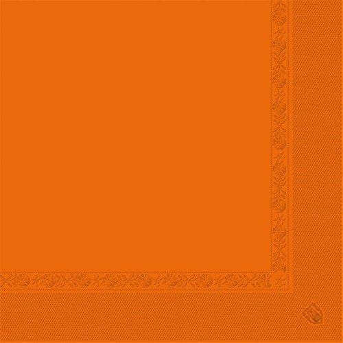 Garcia de Pou 1600 unité Serviettes 2 Plis 18 g/m² en boîte, 40 x 40 cm, Papier, Orange, 30 x 30 x 30 cm