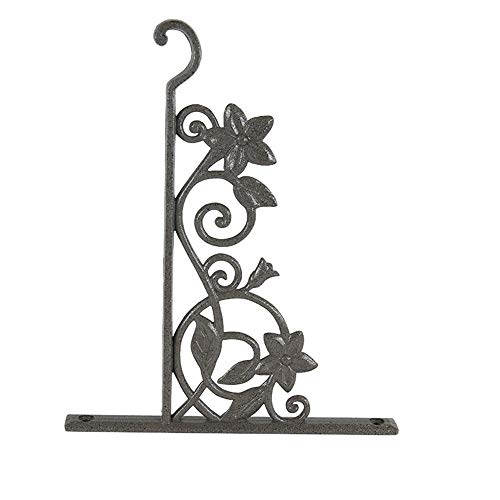 PQXOER Haken für Hanging Basket 2er-Pack Heavy Duty Wandbehang Pflanze Bracket Eisen-Haken-Aufhänger for Laternen Wind Chimes Mehrzweckhaken (Color : As Shown, Size : 11x12cm)