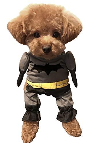 [ディアコロン] ペット コスチューム 犬 服 ドッグウェア コスプレ ハロウィン 二足歩行 衣装 ドッグ ネコ 猫 仮装 ウェア キャットウェア 愛犬 プレゼント ギフト dp001 バットマン M