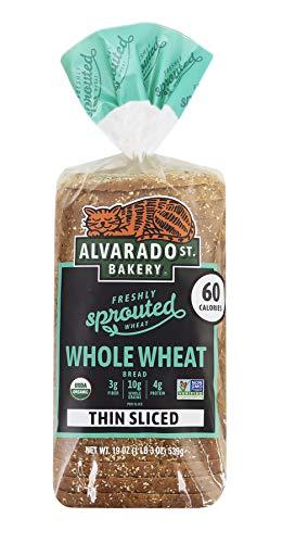 Alvarado Street Bakery - Sliced Bread Made with Organic Sprouted Wheat - Vegan, No GMOs - 24 oz. (Wheat, 2 Pack)