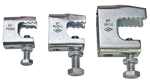 10 Stück Trägerklammern Stahl verzinkt (Aufnahmegewinde M8)