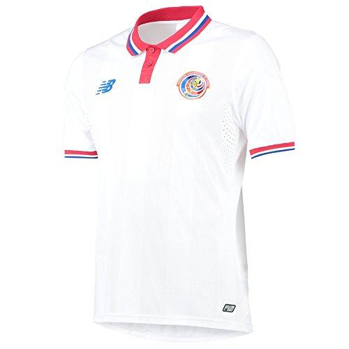 New Balance - Camiseta de fútbol para hombre, diseño de Costa Rica blanco XXL