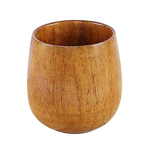 Tonsee Holz Teetasse Hölzerner Holzbecher Hölzerne Trinkbecher Teetasse Natürliche Hölzerne Tasse Holz Becher Handgefertigt Personalisierte Geschenke (D)