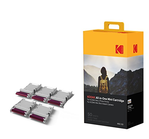 Kodak Mini Photo Printer Cartridge MC - All-in-One papier en kleurinkt cartridge navulling - 50 stuks - Compatibel met Mini Shot Camera, Mini 2 Prints