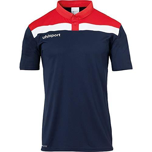 uhlsport Herren Poloshirt Offense 23 Polo Shirt, Marine/Rot/Weiß, 4XL, 100221310
