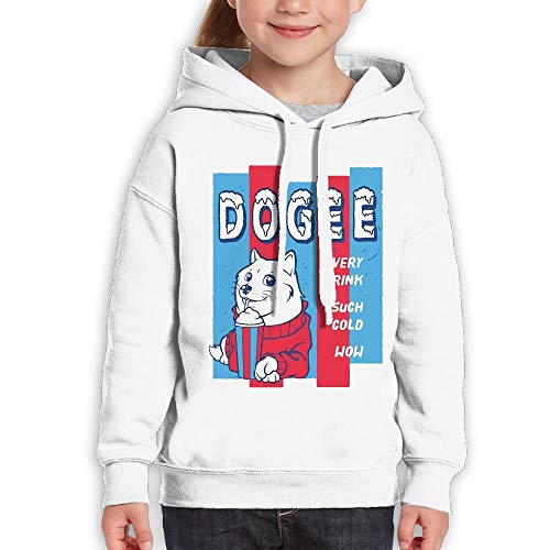 SASJOD Sudaderas con Capucha Youth Pullover Hoodie Doge Ice Slushie Outerwear