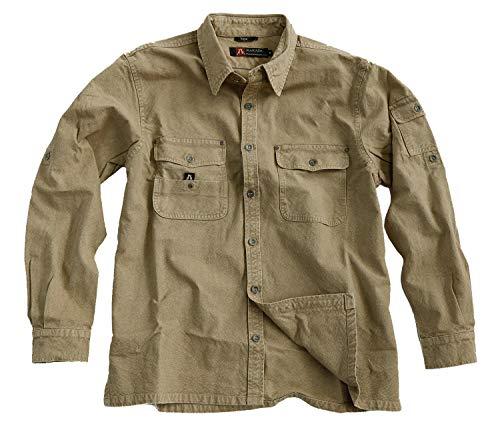 Toorak - Camisa para hombre (hasta 5XL) caqui XL