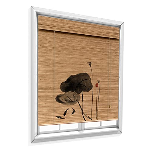 QIANDA Persiana De Bambú,Ventana Persianas Enrollables Habitación Oscurecimiento Paño Privacidad por Casa Te Oficina Decoración, Fácil De Instalar (Color : A, Size : 75x150cm)