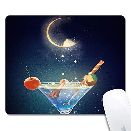 Muismat met blauw wijnglas aangepast ontwerp uitgebreide gaming-muismat antislip rubberen basis Ergonomische muismat voor computer