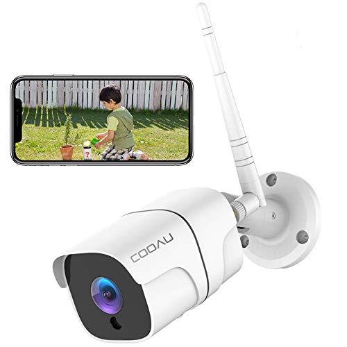 COOAU 防犯カメラ 屋外1080P 200万画素 WIFI/ワイヤレス ネットワークカメラIPカメラ 動体検知 警報 暗視撮影 IP66防水 双方向音声 遠隔操作 自動上書き 監視カメラ 見守りカメラios/android/windows対応 SDカード対応/クラウド保存 日本語アプリ 日本語説明書 白 (ホワイト)