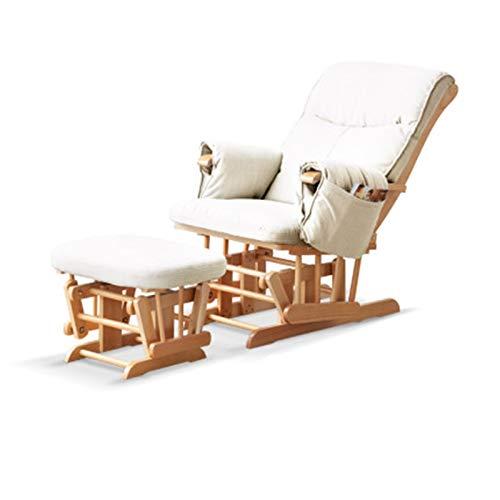 yaunli Mecedora mecedora moderna para balcón, silla reclinable nórdica, apartamento, sala de estar, sofá perezoso, silla mecedora (color: blanco, tamaño: 100,1 x 57,5 x 75,5 cm)