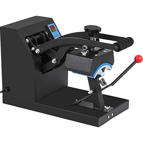 VEVOR Pressa di Calore Trasferimento Press Pressa per Cappellini Zona Stampa Heat Press Machine Rotazione di 360°Digitale della Temperatura