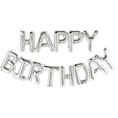 Uteruik Zelf Opblazen Gelukkige Verjaardag Banner Ballon Bunting 16 inch Letters Folie