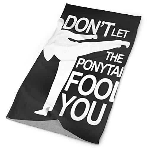 Shichangwei Ponytail Fool You Karate Versatile Face Masks Casual Balaclava Headwear Stretchable Bandanna Headbands Wind Towel