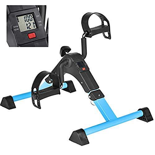 IPKIG Folding Pedal Exerciser - Portable Desk Bike, Under Desk Bike Pedal Exerciser for...