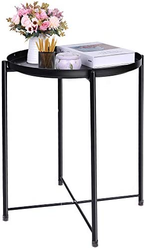 End Table Black Side Table Round Table Small...