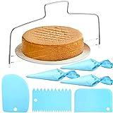 7 Stück Verstellbarer Tortenbodenteiler Kuchenschneider Edelstahl Tortenschneider...