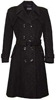 De La Creme Women`s Wool & Cashmere Winter Long Belted Coat