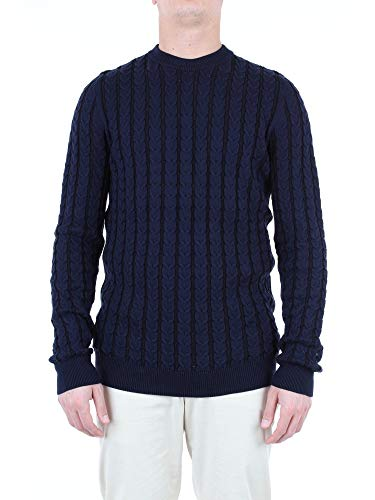 Mauro Grifoni Luxury Fashion Herren GE11008255BLUE Blau Baumwolle Sweater | Jahreszeit Outlet