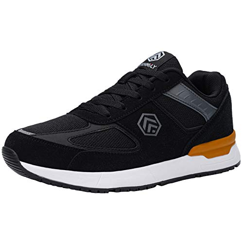 [DYKHMILY] 安全靴 作業靴 男女兼用 鋼鉄先芯 踏抜き防止 軽量 反射材付き 防水 防滑 耐油 通気性 セフティーシューズ ワークシューズ あんぜん靴(24.5, ブラック)