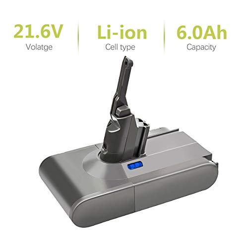 Bonacell 21.6V 6000mAh Li-Ion Ersatzakku für Dyson V8 | Dyson Staubsauger-Pufferbatterie für V8 Absolute V8 Animal und V8 Fluffy