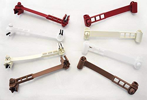 Tope para ventanas de PVC o madera, color marrón, sin pegamento ni agujeros.