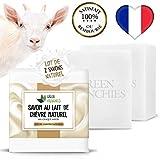 G.F. Jabón de leche de cabra, lote de 2 jabones extra suaves con leche de cabra, jabón natural hidra...