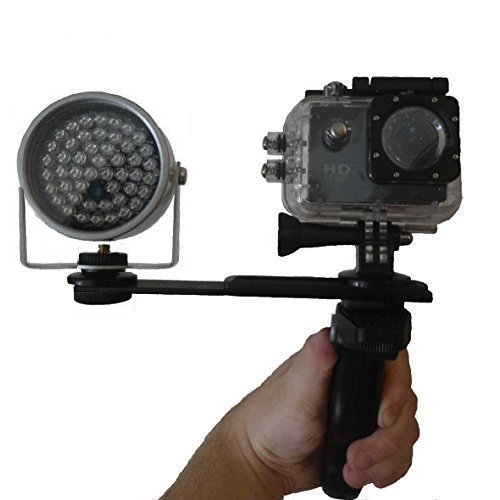 Ghost Hunting Full Spectrum Night Vision GhostPro Waterproof Action Camera Full HD 1080p 12mp with Infrared Illuminator