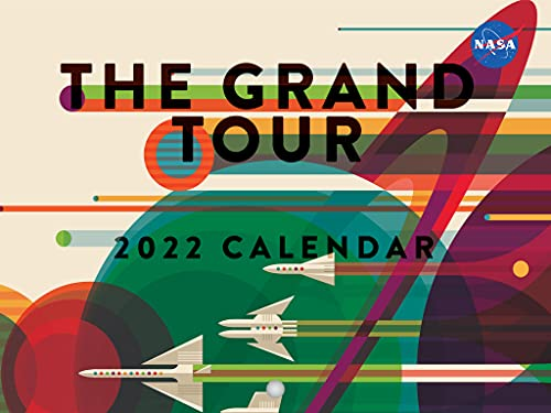 NASA The Grand Tour 2022 Wall Calendar Travel Planets Cosmic Space Astronomy Art Posters Large 18 Month Calendar Monthly Full Color Thick Paper Pages Folded Ready To Hang Planner Agenda 18x12 inch