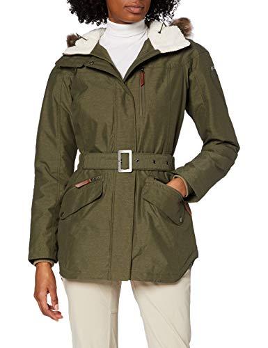 Columbia 1515501 Chaqueta Impermeable con Capucha para Mujer, Carson Pass II Jacket, Verde (Nori), Talla XL