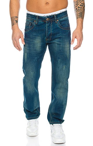 Rock Creek Herren Jeans Blau RC-2103 [W32 L32]