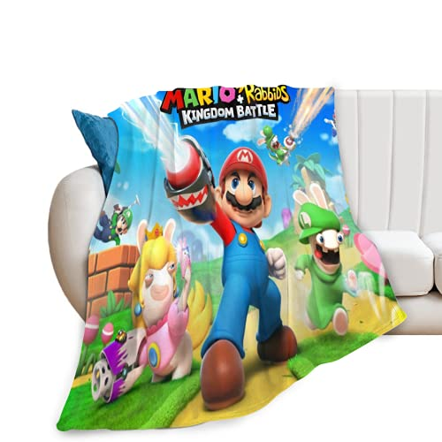 Mario Decke Weiche und Bequeme Decke für Schlafsofa Travel Four Seasons Blanket Game Fans 150x130cm