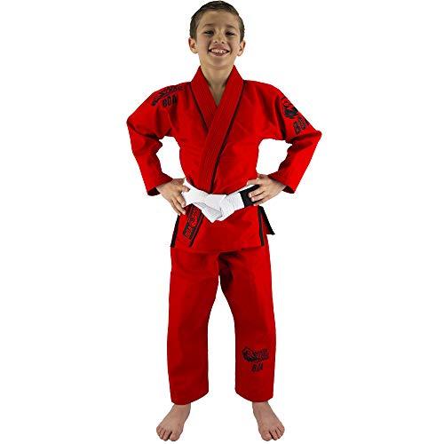Bõa Mata Leão BJJ Gi, Kimono brasileño, Niños, Color Rojo, tamaño M3