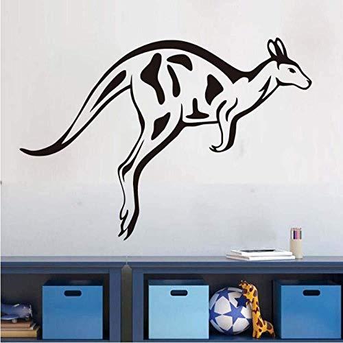 Vinilo adhesivo para pared, diseño de canguro de salto, para sala de estar, habitación de niños, dormitorio, 41 x 59 cm