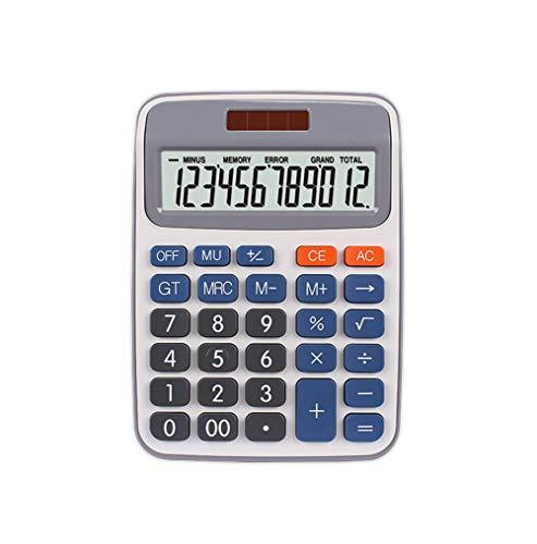 Taschenrechner, 12-stellige Anzeige, solarbetrieben, duale Stromversorgung, Arithmetischer Taschenrechner
